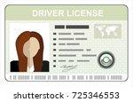 car driver license... | Shutterstock .eps vector #725346553