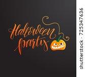 halloween poster. vector... | Shutterstock .eps vector #725347636