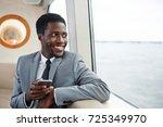 happy african american... | Shutterstock . vector #725349970