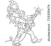 coloring page of cartoon...   Shutterstock .eps vector #725350474