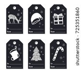 christmas new year gift tags.... | Shutterstock .eps vector #725351860