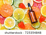 citrus fruit essential oil ... | Shutterstock . vector #725354848