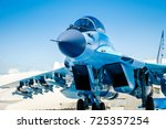 fighter jet in russia syria... | Shutterstock . vector #725357254