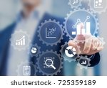 business data analytics process ... | Shutterstock . vector #725359189