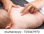 seven month baby girls spine... | Shutterstock . vector #725367973