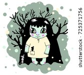 Little Zombie Girl In A Forest