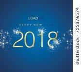 new year 2018 loading spark... | Shutterstock .eps vector #725376574