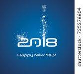 new year 2018 cyberspace... | Shutterstock .eps vector #725376604