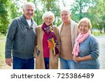 group portrait of cheerful... | Shutterstock . vector #725386489