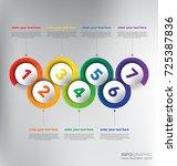 horizontal timeline info...   Shutterstock .eps vector #725387836