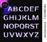 vector eps10. glowing font.... | Shutterstock .eps vector #725388784