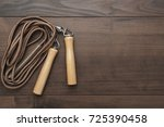 skipping rope for an exercise... | Shutterstock . vector #725390458