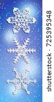 Set Of Snowflake Ornament For...