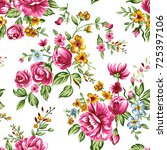 flower pattern | Shutterstock . vector #725397106