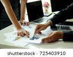 business people working... | Shutterstock . vector #725403910