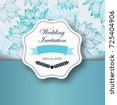 vintage gentle spring greeting... | Shutterstock .eps vector #725404906