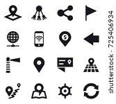 16 vector icon set   pointer ... | Shutterstock .eps vector #725406934