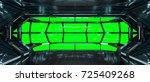 spaceship dark interior with... | Shutterstock . vector #725409268