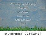 five ways to wellbeing  | Shutterstock . vector #725410414