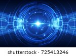 abstract digital technology... | Shutterstock .eps vector #725413246