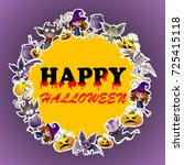 vector illustration halloween... | Shutterstock .eps vector #725415118