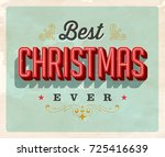 vintage style postcard   best... | Shutterstock .eps vector #725416639