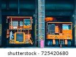 liquid steel truck | Shutterstock . vector #725420680