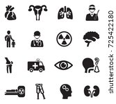 hospital departments icons.... | Shutterstock .eps vector #725422180