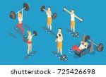 fitness weight lifting in gym ... | Shutterstock .eps vector #725426698
