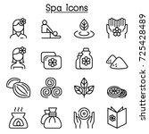massage  spa   alternative... | Shutterstock .eps vector #725428489