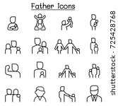 father icon set in thin line... | Shutterstock .eps vector #725428768