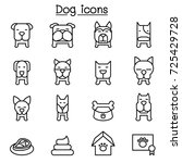 dog icon set in thin line style | Shutterstock .eps vector #725429728