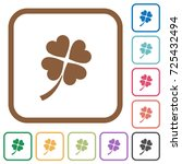 four leaf clover simple icons... | Shutterstock .eps vector #725432494