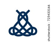 isolated macrame icon symbol on ... | Shutterstock .eps vector #725433166