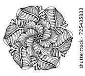 mandalas for coloring book.... | Shutterstock .eps vector #725435833