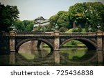 tokyo imperial palace with... | Shutterstock . vector #725436838