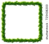 thin christmas square wreath... | Shutterstock .eps vector #725438203