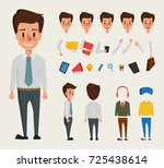 businessman character creation... | Shutterstock .eps vector #725438614