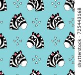 cute kids pattern for girls and ... | Shutterstock . vector #725443168