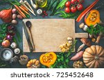 traditional autumn vegetables... | Shutterstock . vector #725452648
