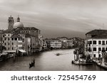 venice grand canal view with... | Shutterstock . vector #725454769