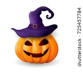 halloween  pumpkin. greeting... | Shutterstock .eps vector #725457784