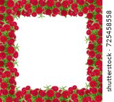 zinnias flower frame isolated... | Shutterstock . vector #725458558