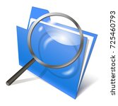 search of data  icon folder on... | Shutterstock .eps vector #725460793