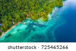 aerial view of small bay in... | Shutterstock . vector #725465266