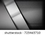 metallic steel and honeycomb... | Shutterstock .eps vector #725465710