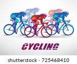 cycling race stylized... | Shutterstock .eps vector #725468410