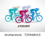cycling race stylized... | Shutterstock .eps vector #725468413