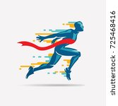 running man vector symbol ... | Shutterstock .eps vector #725468416