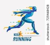 running man vector symbol ... | Shutterstock .eps vector #725468428